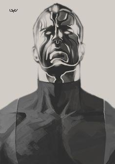 Colossus fanart — X sketch 04 — by wyv1 #drawing #fan art #sketch