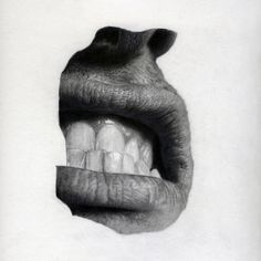 Saatchi Online Artist: Jonny Shaw; Pencil, 2010, Drawing #teeth #nose #graphite #lips #illustration #face #drawing #mouth