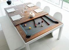 Fusion Table dining table and pool table - www.homeworlddesign.com (1) #pool #table #dining