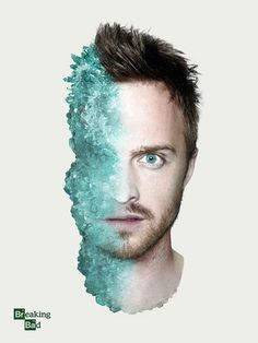 Breaking Bad Poster featuring Aaron Paul / Jesse Pinkman by Shelby White #breaking #aaron #poster #bad #paul
