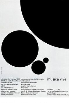 Josef Müller-Brockmann MUSICA VIVA SCHWEIZERISCHE 1958 SWITZERLAND [ 128CM X 90CM ] via www.blanka.co.uk
