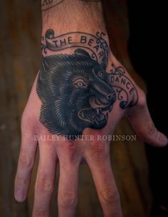 Bear Dance « Copper Beehive – Tattooing by Bailey Hunter Robinson