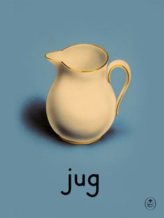 jug Art Print by Ladybird Books Easyart.com #print #design #retro #artprints #vintage #art #bookcover