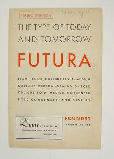 Book cover(1930's Futura Specimen Booklet, viaesperanzapinatelli) #book cover #futura