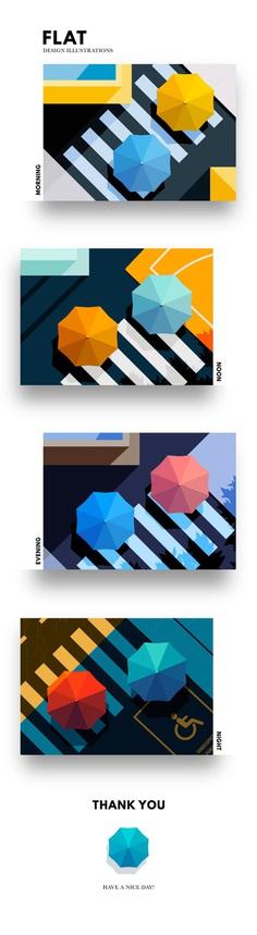Flat Design Illustrations on Behance