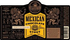 Copper Kettle Mexican Chocolate Stout Label #packaging #beer #brews