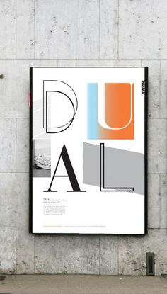 DUAL #design #graphic #exhibition #poster #gradient