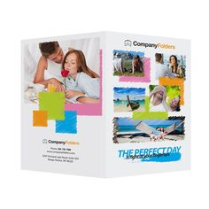 Perfect Day Travel Documents Folder Template (Free AI File) #illustrator #design #free #presentation #template #ai #folder