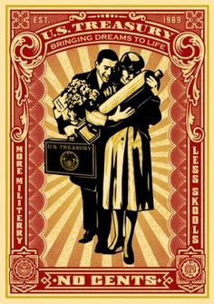 Proud Parents Offset - OBEY GIANT #faired #illustration #poster #obey #shepard
