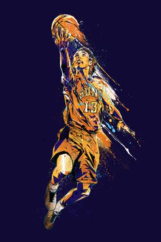 sports illusration splash energy mvp steve nash