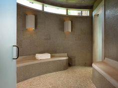 Sauna with minimalist design