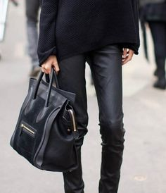 High heels and hangovers. #celine #girls #pants #leather #fashion #bag