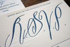 b dunlap #calligraphy #letterpress #rsvp