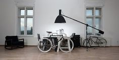 IN THE KITCHEN #interior #white #bicycle #fixed #office #black #gear #kukucka #photography #studio
