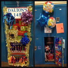 Birthday Locker Decoration #design #makeup #decor #locker #decoration