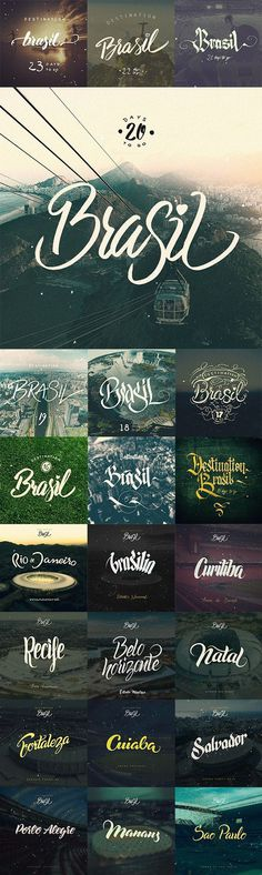 Destination Brasil by Arkadiusz Radek #inspiration #lettering #world #fifa #brasil #2014 #cup #typography