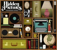 ALBUM ART: Hidden Pictures - Synchronized Sleeping | Flickr - Photo Sharing! #jordan #design #graphic #illustration #gray