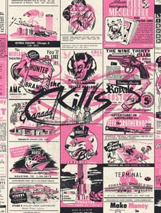 GigPosters.com - Kills, The - Jeff The Brotherhood - Hunters #skills #gig #illustration #vintage #poster