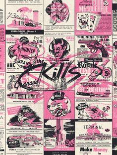 GigPosters.com - Kills, The - Jeff The Brotherhood - Hunters #skills #gig #illustration #vintage #poster