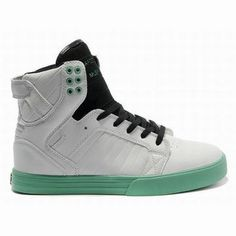 Supra Footwear-Skytop High Tops White Black Green Men Skate Shoes #fashion