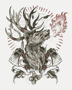 Derrick Castle #inspiration #illustration #deer #poster