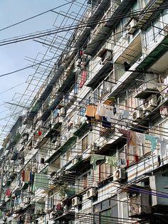 "Image Spark Image tagged ""urban"", ""shanghai"" luizflorence #shanghai #fields #facades"
