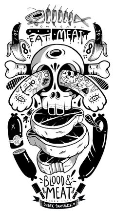 Skateboard Deck on Behance #skateboard #illustration #ink