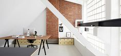 Designliga via www.mr cup.com #interior #office #design #brick