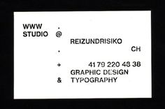 FFFFOUND! #card #minimal #business #typography