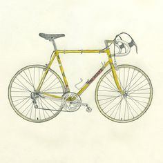 Lisa Congdon Art + Illustration » vintage eddy merckx #illustration