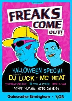 workdjlucklarge.jpg (JPEG Image, 600×844 pixels) #luck #halloween #gig #neat #garage #dj #music #zombie #gatecrasher #mc