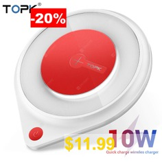 TOPK #B03W #10W #Wireless #Charger #for #iPhone #X #Xs #Fast #Wireless #Charging #Pad #for #Samsung #Note #9 #Xiaomi
