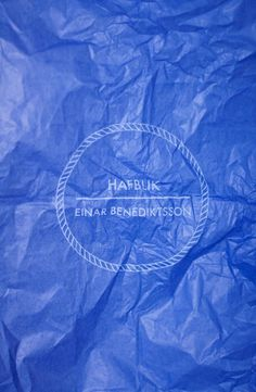 Hafblik on Behance #blue #print #circle #rope