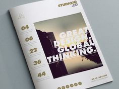 Concept 1 (Cover Portfolio) #typography #layout #studio #brochure #clean #editorial #portfolio #gold
