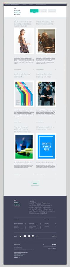 Creative Enterprise Australia #website #layout #design #web