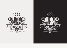 Suppa Bar on Behance #suppa #bar #erik #erdokozi #black #white