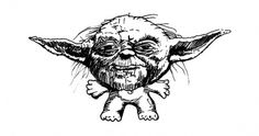 Yoda #yoda #wars #illustration #figure #star