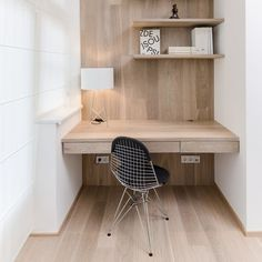 Minimal work area in a remodel by Czech firm #office #space #home #desk #minimal #work