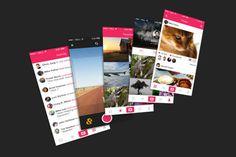 Free Photo App UI PSD