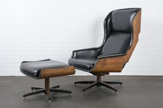 Mid-Century Modern Lounge Chair and Ottoman by Drexel