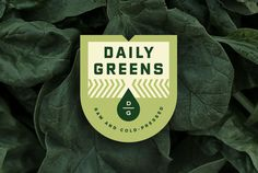 Karl Hebert's Design Work #badge #branding #packaging #box #gold #juice #lunch