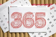 SH_2013_Cal #365 #calendar #red #typography
