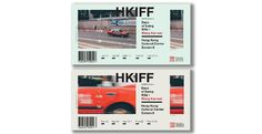 Tickets for The International Film Festival in Hong Kong #tickets #typography #red #redtaxi #hkiff #hongkong
