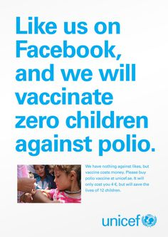 unicef #print #facebook #poster #unicef #awesome