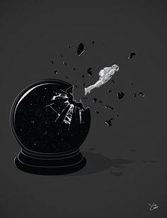 Beyond the Globe #astronaut #illustration