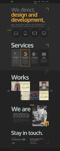 M #agency #page #site #one #design #manadigital #digital #web #art #dark