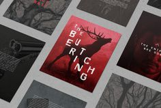 The Butchering by Ashwin Kandan #blood #butchering #print #typography #horror #scary #shwin