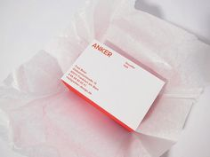 ANKER | Corporate Design #card #identity