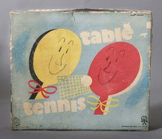 Vintage Table Tennis packaging by Milt Herder #milt #tennis #modern #packaging #pong #mid #vintage #century #type #ping #herder