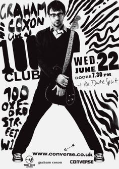 100 Club #intro #uk #converse #poster #bw